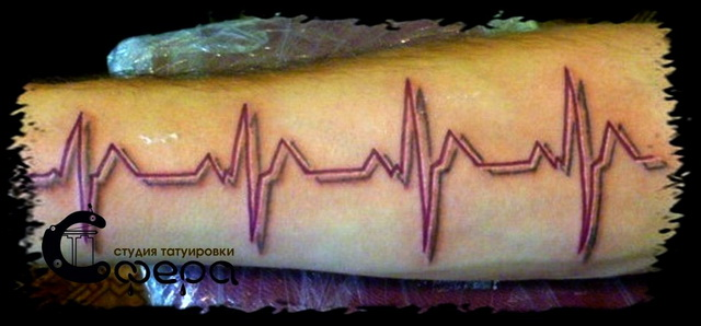 Тату кардиограмма